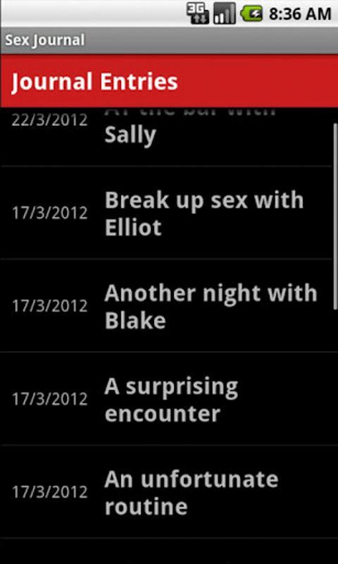 sex journal app