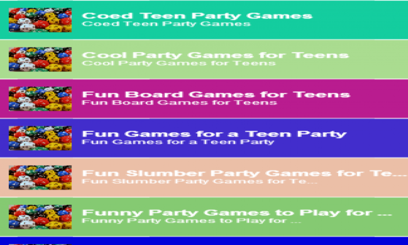 Games to sign up for teenagers