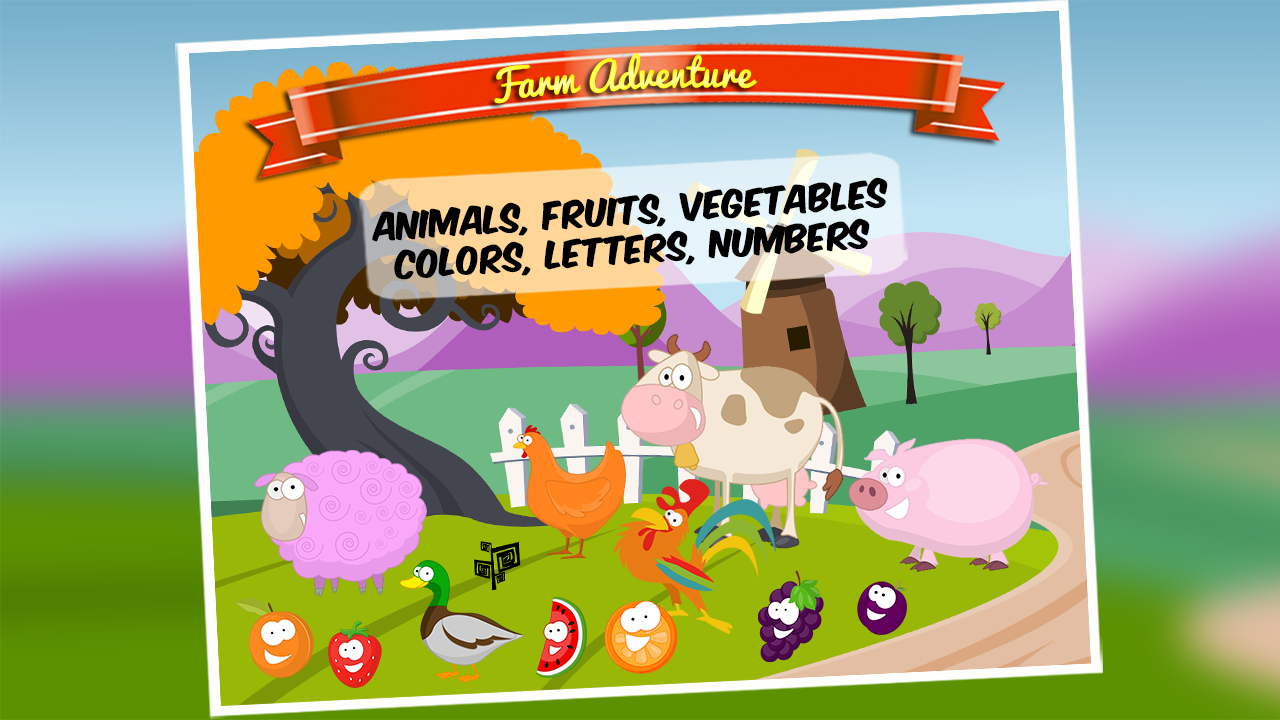 Farm Adventure for Kids Free - Play with animals, letters, numbers ...