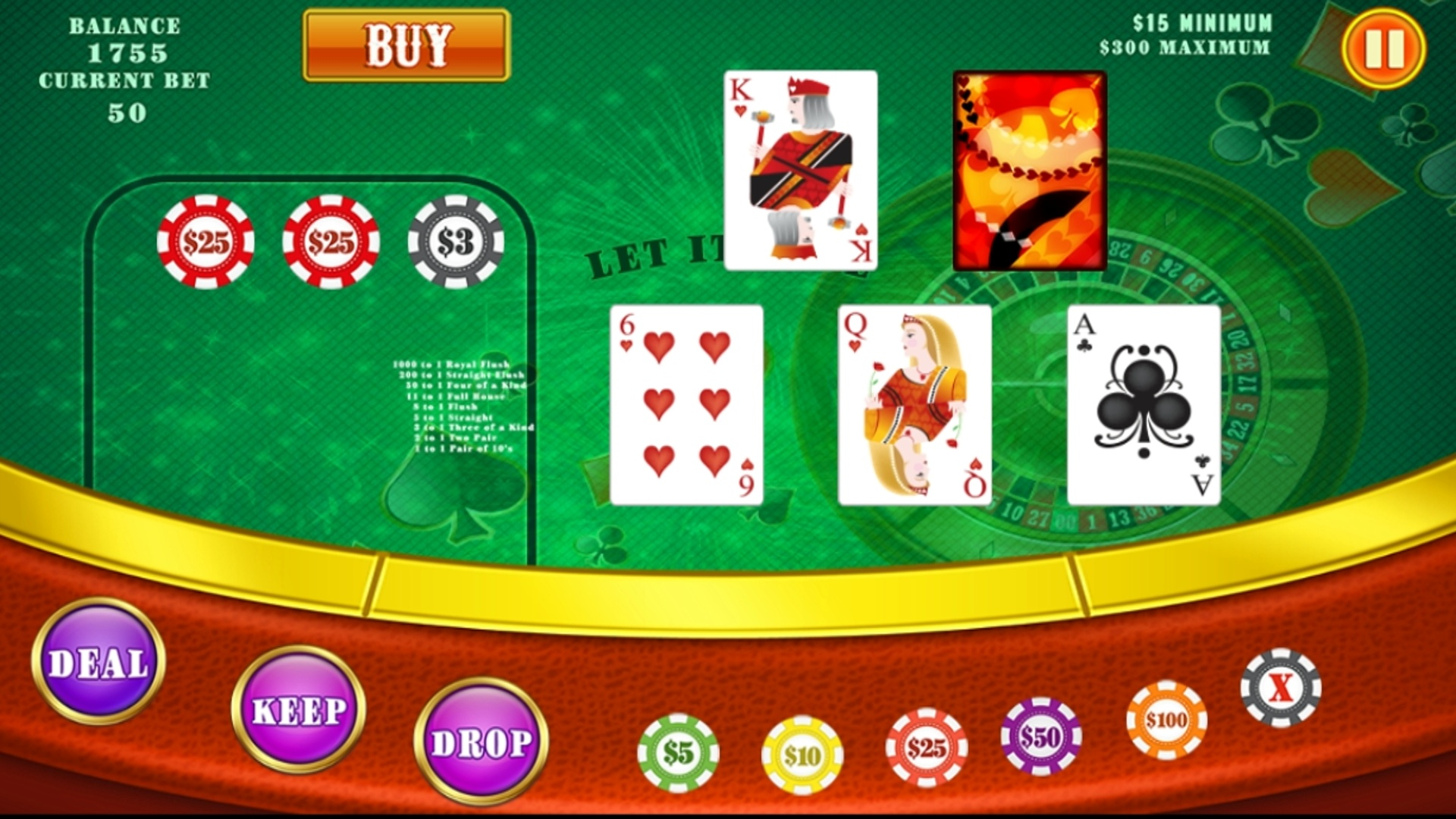 Let it Ride Poker - Free Video Poker Game - Play Now