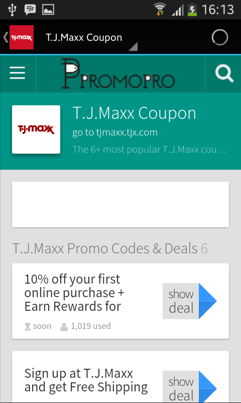T J  Maxx Coupons App Ranking and Store Data | App Annie