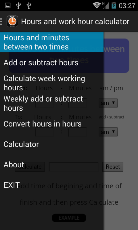 hours calculator for work  screenshot image  the app that has gone