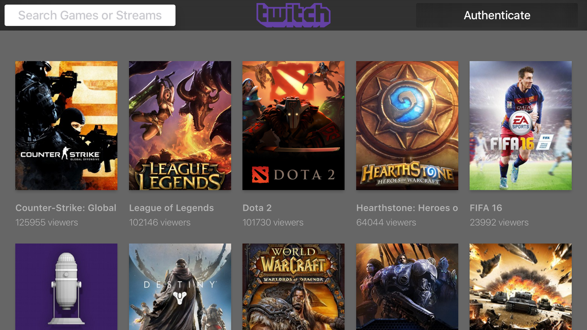 AnyStream - The Gaming Stream for Twitch & Hitbox App Ranking and ...