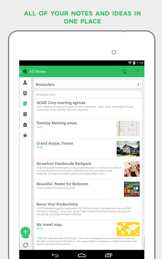 Evernote - Android Mobile Analytics and App Store Data
