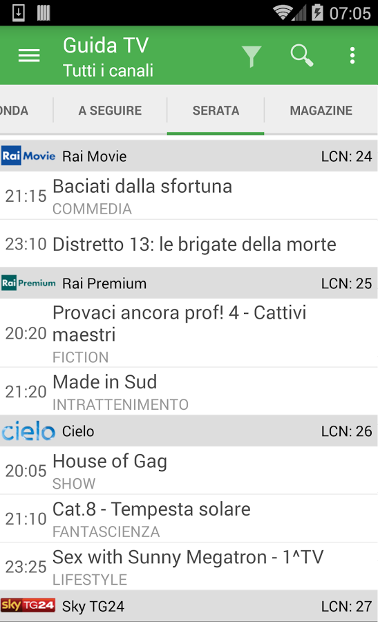 TV Guide Italy FREE App Ranking and Store Data | App Annie