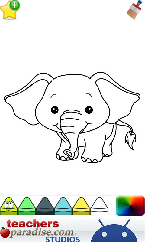 Title Baby Animals Coloring Book For Kids App Description