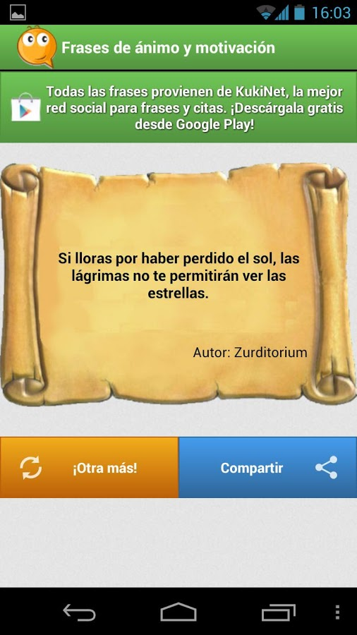 Frases de motivacion y animo - Android Mobile Analytics and App Store Data