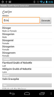 Middle-earth Name Generator App Ranking and Store Data | App