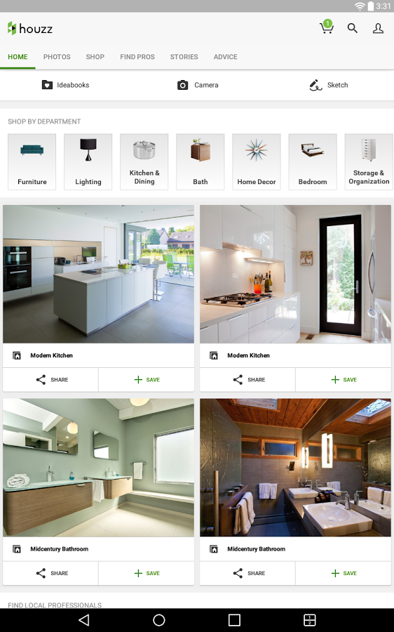 Houzz interior design ideas app ranking and store data Houzz design app