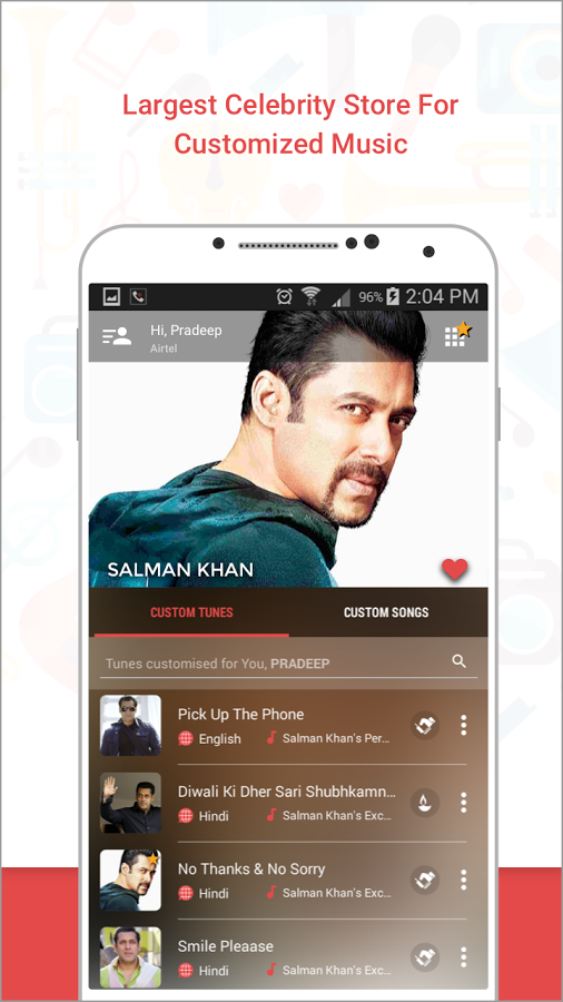 Caller Tunes, Celebrities & Songs App Ranking and Store Data