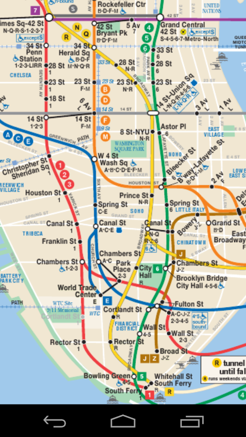 Basic Nyc Subway Map App.Ny City Subway Map App World Maps