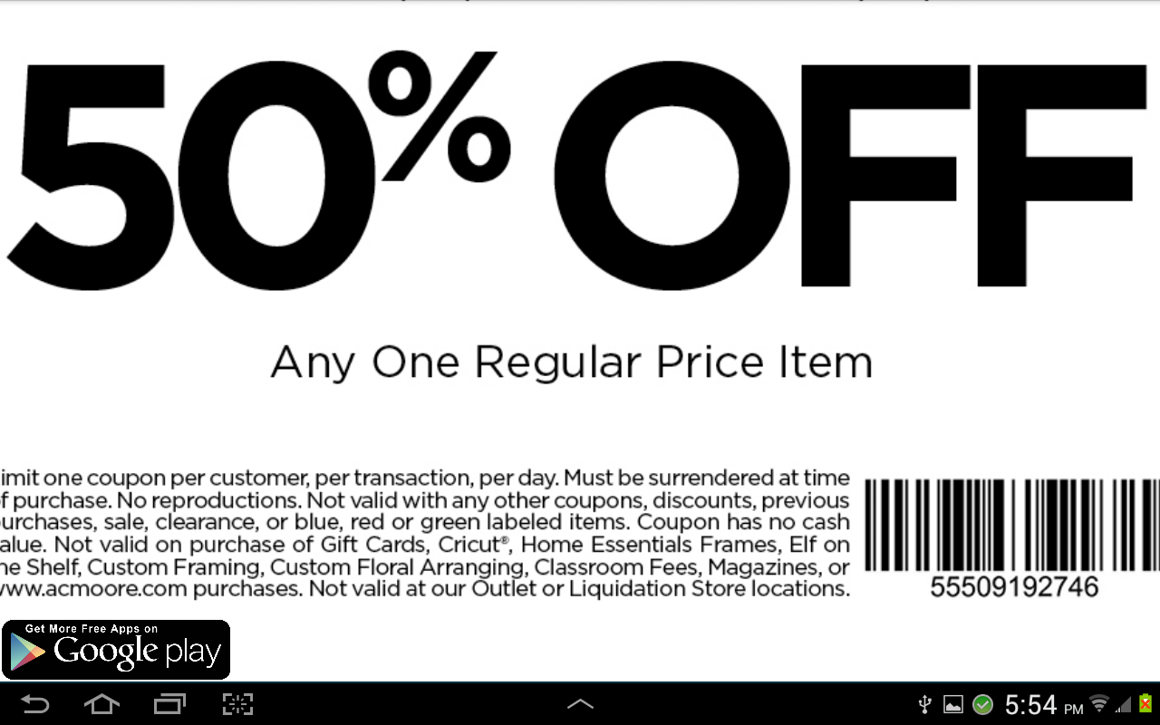 Google store coupon code