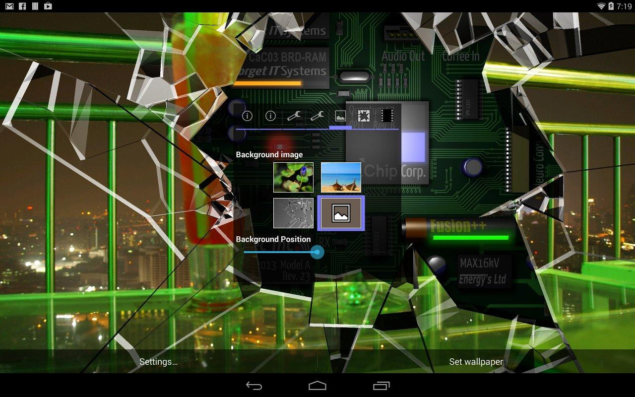 Cracked Screen Gyro 3D Parallax Wallpaper HD App Ranking and