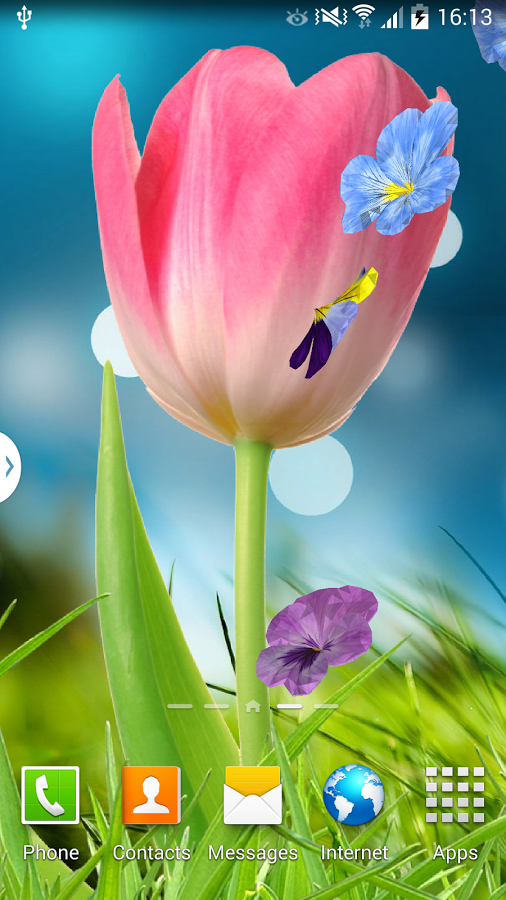 App Description 3D Flowers Live Wallpaper Beautiful Dynamic Animated