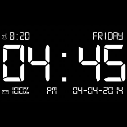 full screen clock