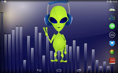 App Description Dancing Alien Live Wallpaper