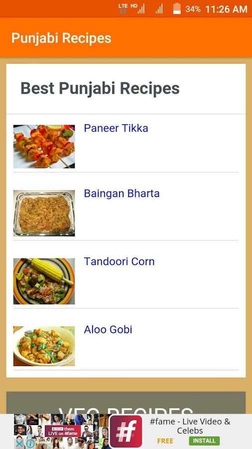 The Most Useful App For Your Daily Recipes Need You Can Find Best And Easy Steps Punjabi This Consist Of 100 From Veg