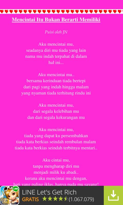 Puisi Cinta Romantis Sedih App Ranking Und Store Daten