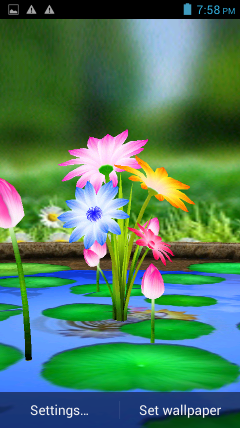 3D Flowers Touch Wallpaper App Ranking and Store Data | App