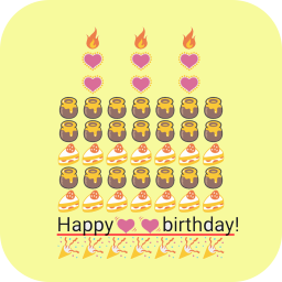 Birthday Art Emoji Keyboard