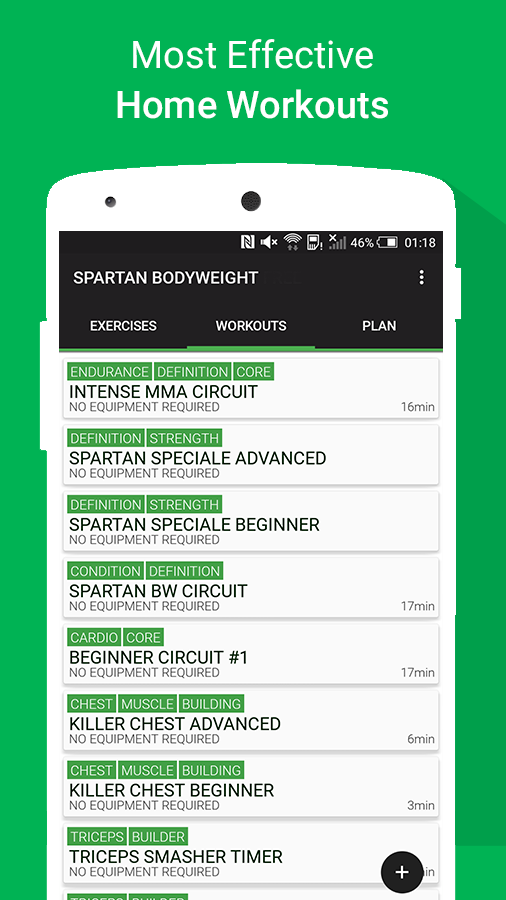 Spartan Home Workouts - No Equipment App Ranking and Store Data