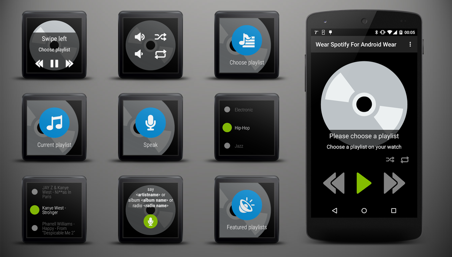 Wear Spotify For Wear OS (Android Wear) App Ranking and