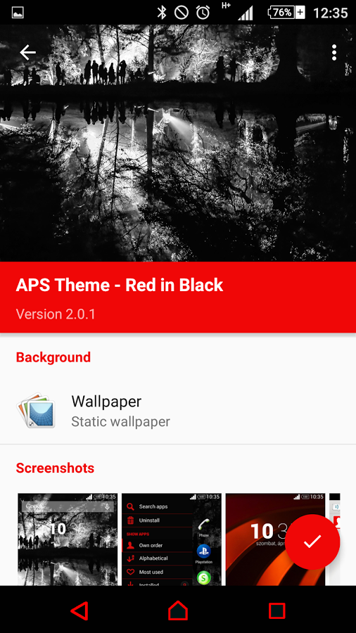 Xperia Theme - Red in Black App Ranking and Store Data | App