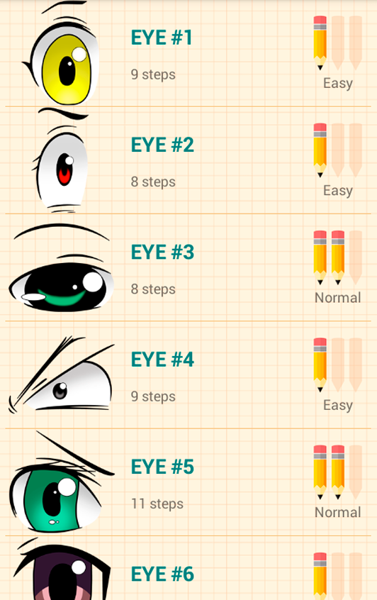 How to draw anime eyes app ranking and store data app annie for Easy app design