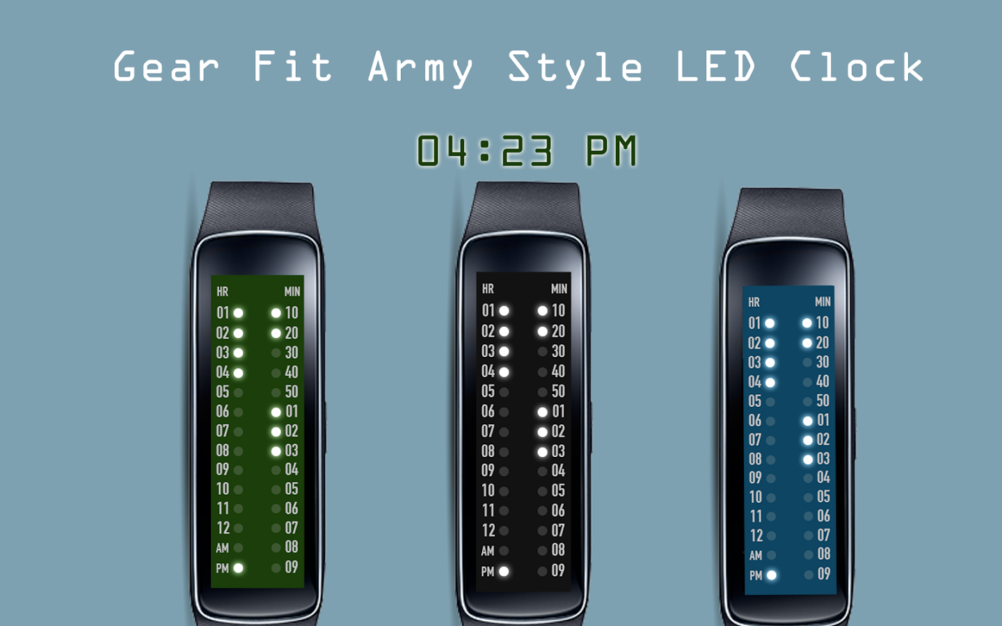 Gear Fit Army Style LED Clock App Ranking And Store Data