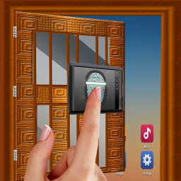 تطبيق Door Lock Fingerprint Prank