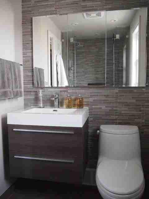Modern Half Bathroom Ideas modern half bathroom ideas designs make small look bigger photos