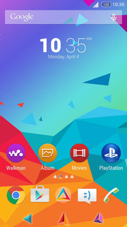 Geometric Colorful for Xperia™ App Ranking and Store Data