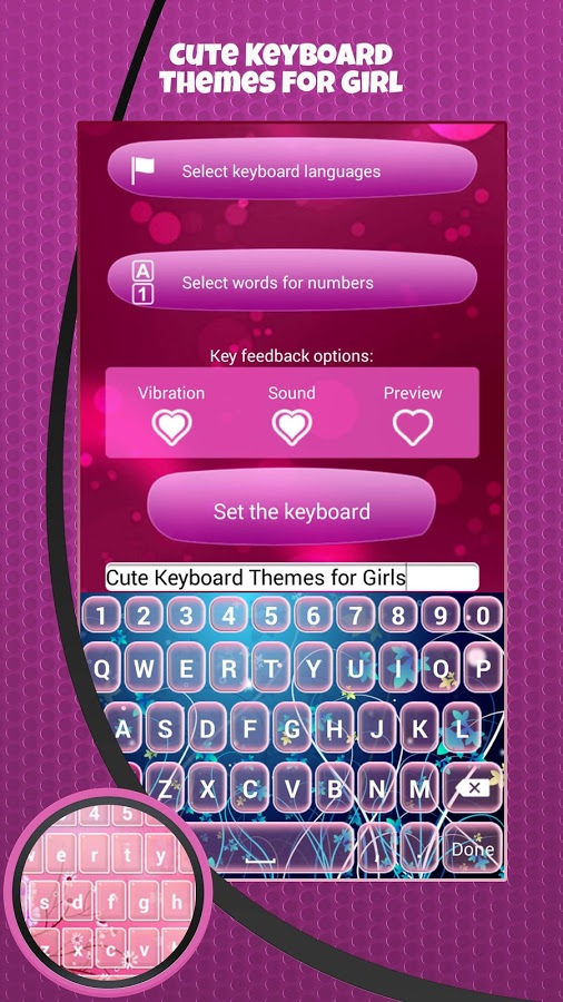 Cute Keyboard Themes for Girl App Ranking and Store Data | App Annie