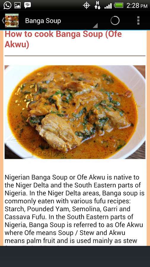 Nigerian food recipes app ranking and store data app annie forumfinder Choice Image
