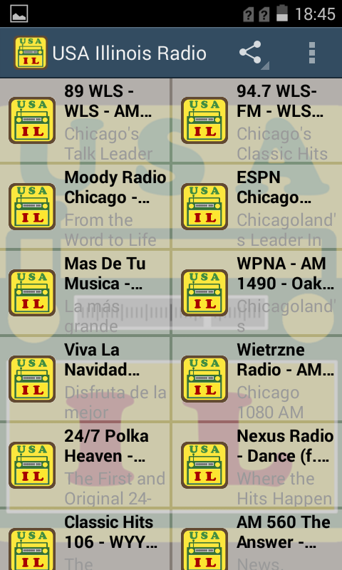 USA Illinois Radio Stations App Ranking and Store Data | App