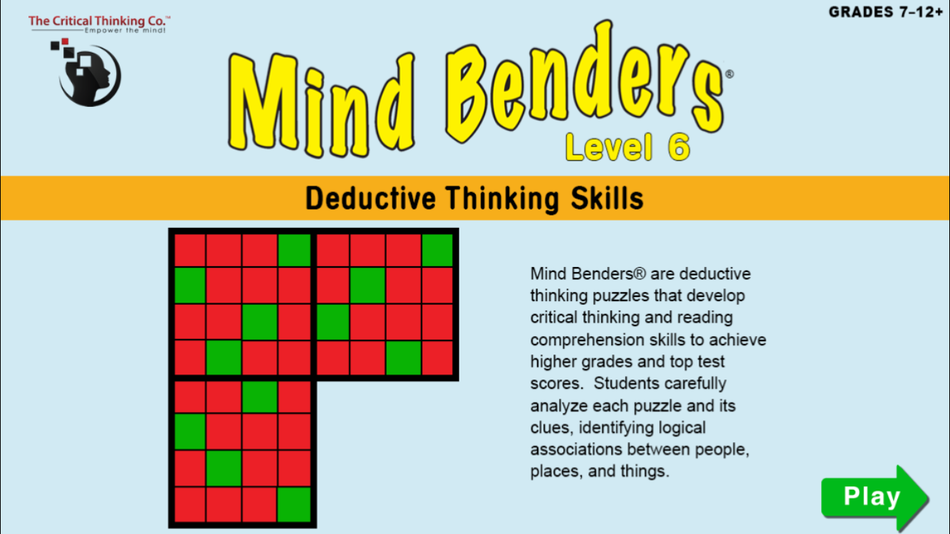 critical thinking puzzles for high school
