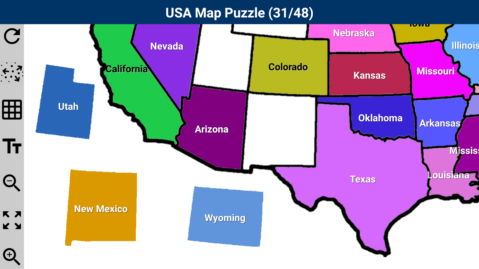 USA Map Puzzle App Ranking And Store Data App Annie - Us states map puzzle