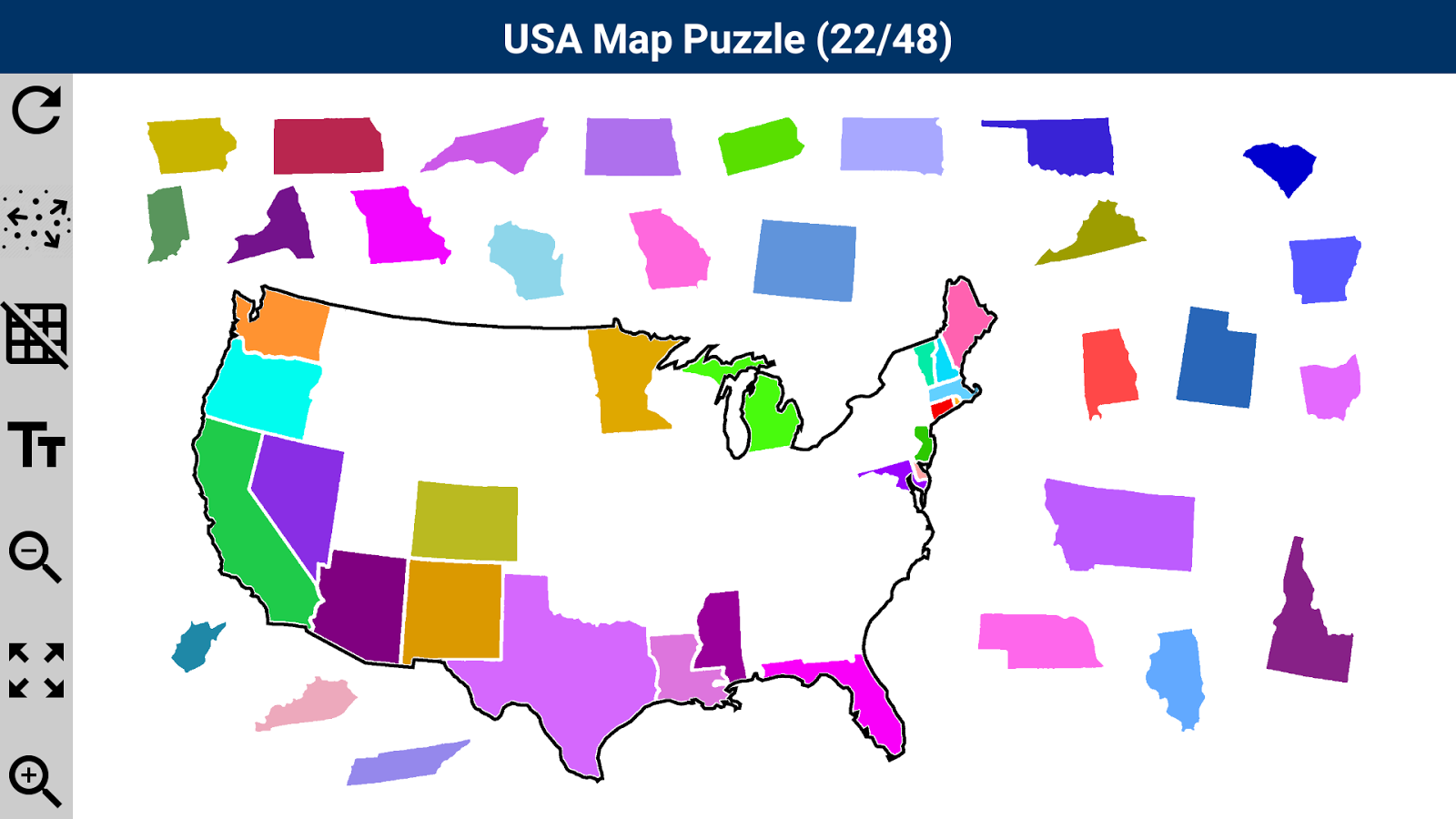USA Map Puzzle App Ranking And Store Data App Annie - Usa map with hawaii and alaska