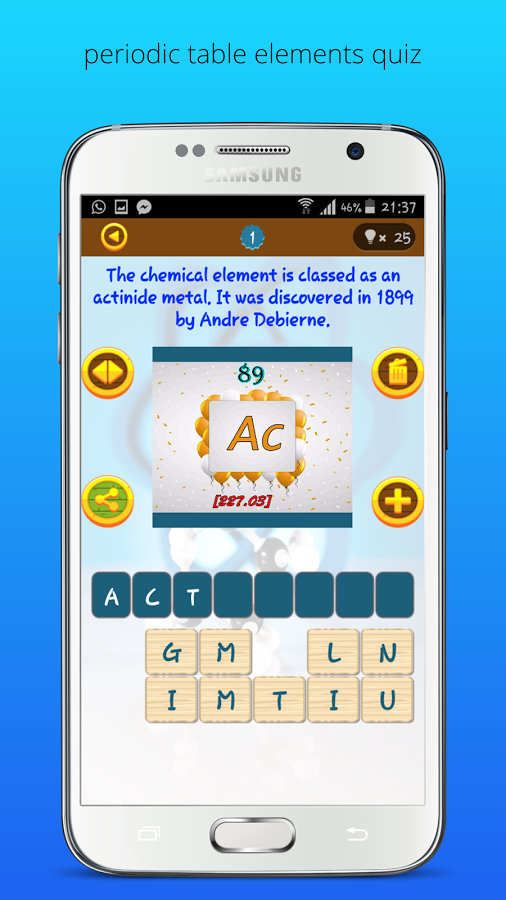 Periodic table elements quiz app ranking and store data app annie that you want to keep periodic table of elements this application offers you 118 question all the elements of the periodic table fun and easy way urtaz Gallery