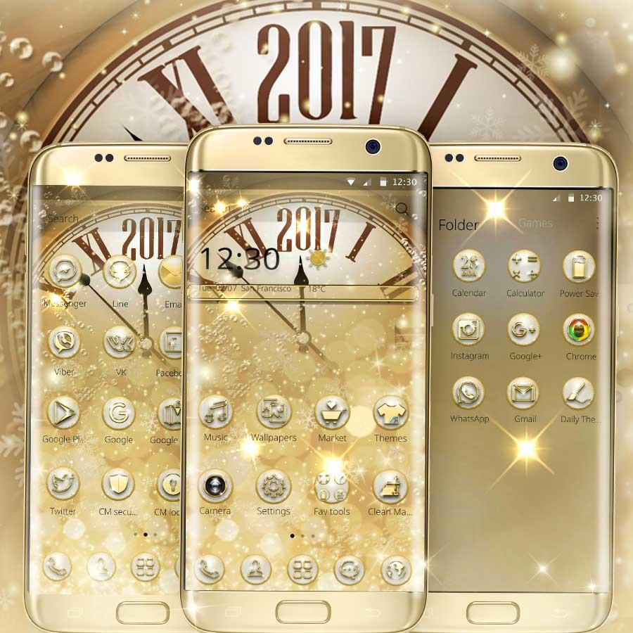 Gmail live themes - Customized Themes Share Your Gold Diamond Deluxe Clock Theme Gold Deluxe Wallpaper And Diamond Gold Icons With Friends Give Him Her A Surprise
