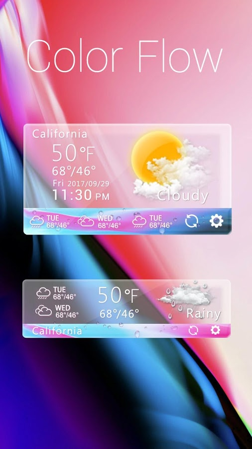 Color Flow GO Weather Widget Theme App Ranking and Store