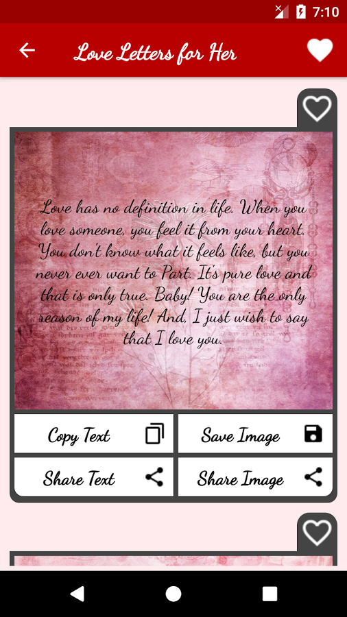 Love Letters & Love Messages - Share Flirty Texts App