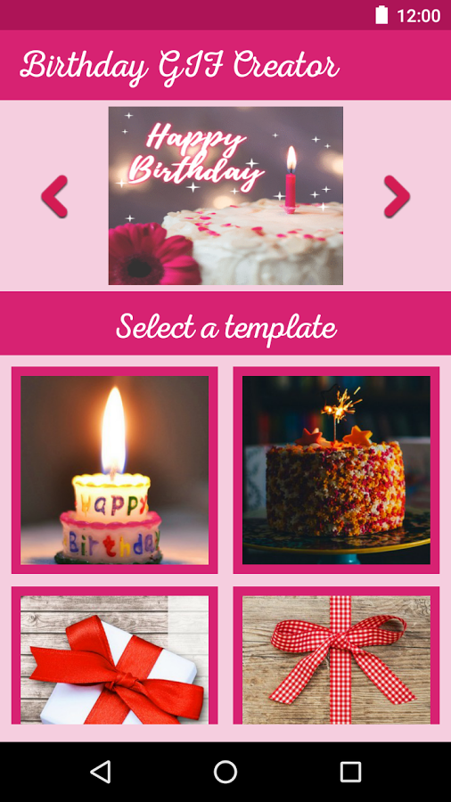 Birthday GIF Maker - Funny Gif Video With Messages App