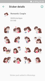 Romantic Couple Sticker Wastickerapps App Ranking And