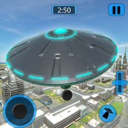 Alien Flying UFO Simulator Space Ship Attack Earth App
