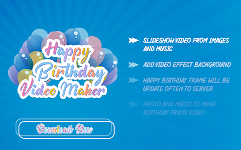 Birthday Video Maker with Song App Ranking and Store Data
