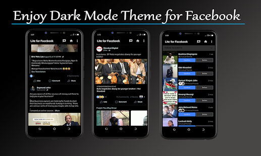 Dark Theme Mode for Facebook App Ranking and Store Data