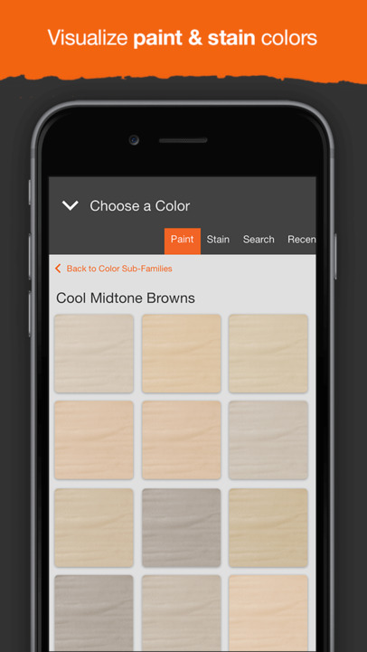 Project color by the home depot app ranking and store for Paint color matching app