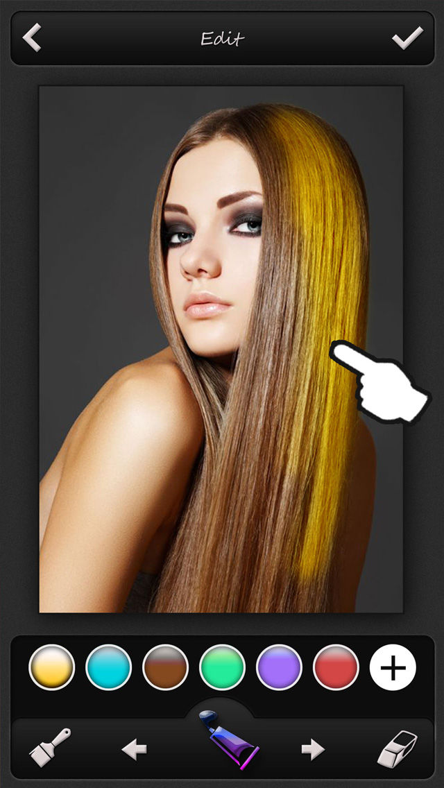 Hair Color Changer Recolor Booth To Dye Change Beautify