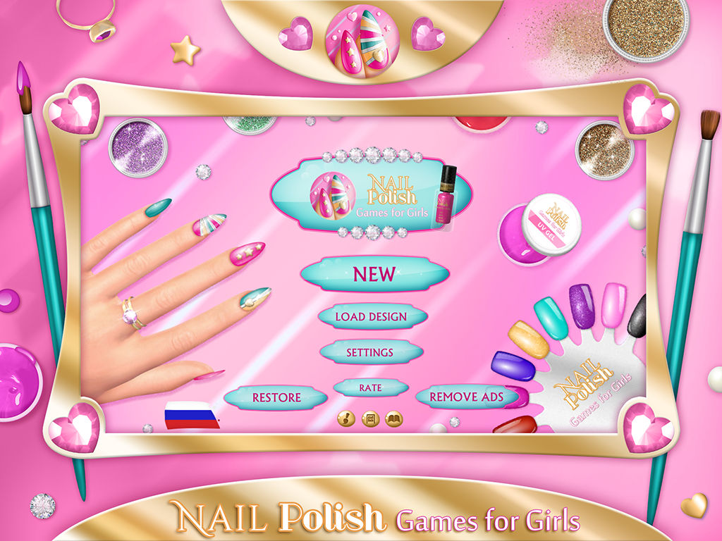 Nail polish games for girls do your own nail art designs in fancy app description prinsesfo Images